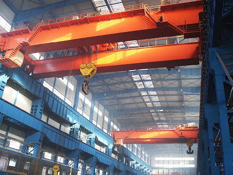 Кран мостовой двухбалочный электрический купить в Китае