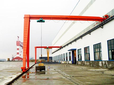 Полукозловой кран однобалочный купить из Китая