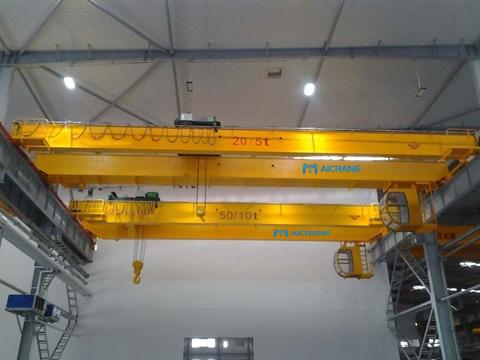 Мостовой двухбалочный кран 20 тонн купить из Китая