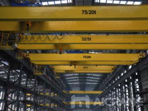Купить мостовой кран 75 тонн/20 тонн